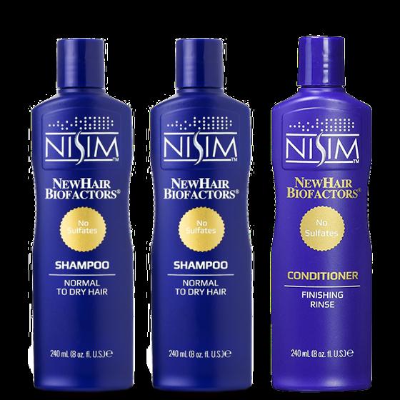 NISIM滋潤優惠組合(中乾性頭皮)洗X2.護X1