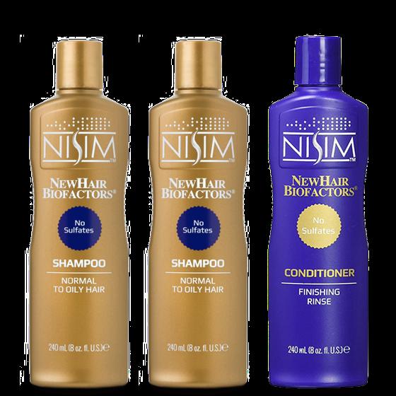 NISIM清爽優惠組合(油性頭皮)洗X2.護X1